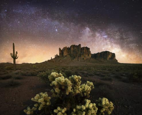 Superstition Mountains Milky Way-3