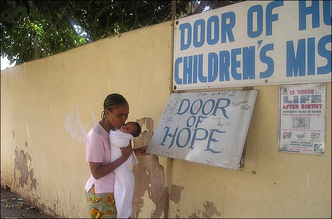 Outside Door of Hope Children's Mission, photo by Paul Lynch