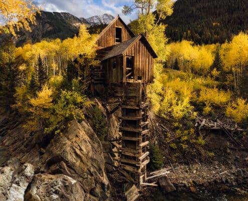 (JoSn003)Crystal Mill Fall Colors