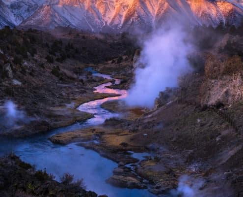 (JoSn007)Hot Creek Vertical Sunrise