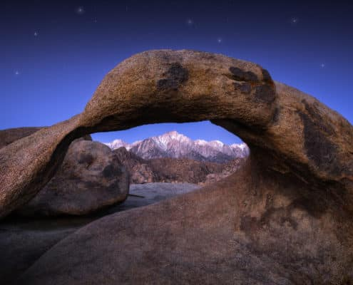 (JoSn012)Mobius Arch Lone Pine Sunrise Twilight