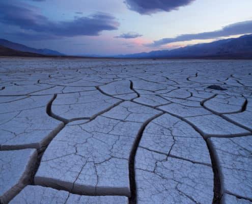 (JoSn014)Mud Crack Verticle Twilight Blue Hour